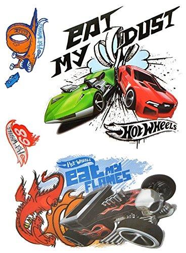 4-tlg-set-3-d-wandtattoo-fensterbild-hot-wheels-auto-wasserfest-selbstklebend-sticker-aufkleber-kind