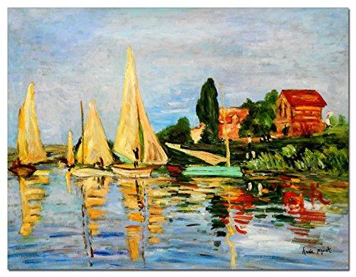 elOleo Claude Monet - Regatta bei Argenteuil 90x120 Gemälde auf Leinwand handgemalt 87833A - Claude Monet-regatta Bei Argenteuil