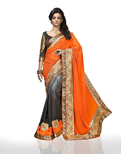 Chirag Sarees Synthetic Saree (4412_Multi)