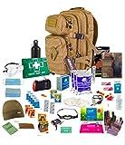 Bug Out Bag (Tan) One Person 72hr Notfall Kit, Essential für dieses Tag und Alter