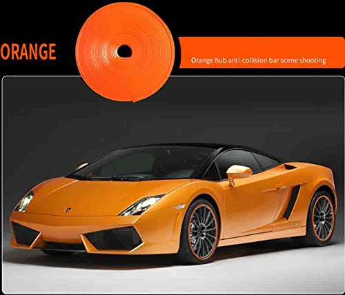 BMDHA Rimblades Legierung Rad Edge Ring Felge Protektoren Reifen Reifen Schutz Gummi Form- Mehrere Farben,Orange