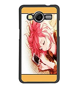PrintDhaba Lovely Girl D-1350 Back Case Cover for SAMSUNG GALAXY CORE 2 G355H (Multi-Coloured)