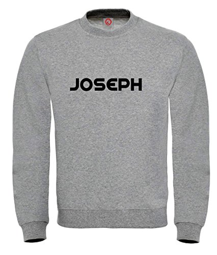 Felpa Joseph - Print Your Name Gray