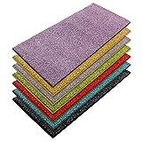 casa pura Teppich Läufer Luxury | Moderne Shaggy Optik mit flauschigem Hochflor | Teppichläufer in vielen Farben für Flur, Schlafzimmer, Wohnzimmer etc. | viele Breiten und Längen (66 x 150cm, lila)