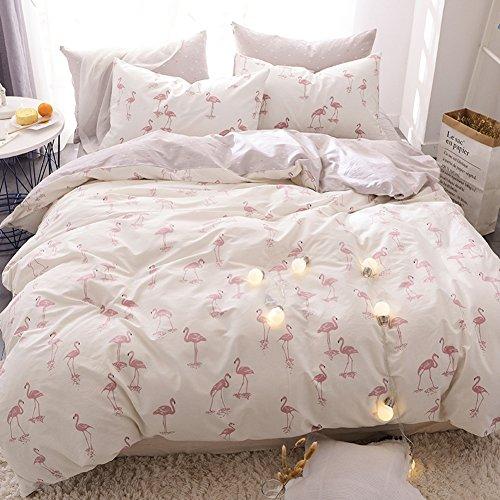 Beddingleer bettwäsche Vier satz von bettbezug Baumwolle Doppel-bett-blatt Quilt cover 1 bettbezug + 1 bett bettwäsche + 2 kissenbezug-S King (1 Bett-blatt-satz)