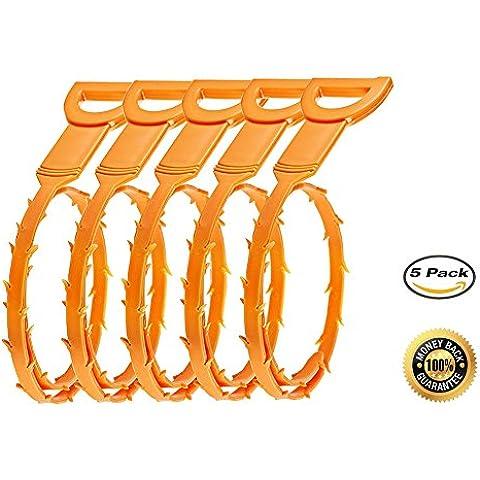 Drian Clog Remover, junan Snack drenaje Clog herramienta de amarillo + 1Pack Alivio de drenaje herramienta de limpieza (2Pack)