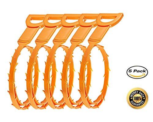 drain-snake-hair-drain-clog-remover-cleaning-tool-junan-clog-drain-remover-5-pack-yellow
