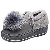 Tatis Shoes Solide Wildleder künstlichen Plüsch flachen Mund Baumwolle Stiefel Frauen Startseite Warme Baumwolle Schuhe Dicke Unterseite Niedlich Quaste Flat-Mit Boots
