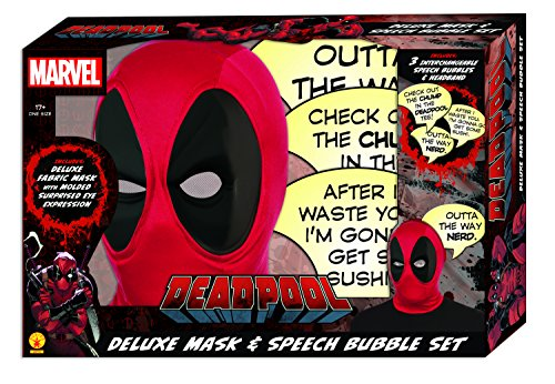 Rubies Costumes Marvel Deadpool Deluxe Maske & Speech Bubble Box Set