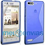 Funda carcasa para ORANGE GOVA / HUAWEI ASCEND G6 GEL TPU Diseño S-Line Color AZUL
