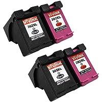 vivink Confezione da 4302x l alta resa nero e a colori Combo Pack cartucce d' inchiostro rigenerate