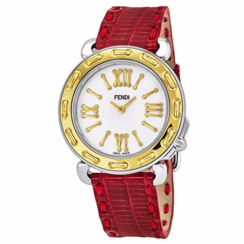 Fendi Women's Selleria 35mm Leather Band Swiss Quartz Watch F8001345H0.TSN7