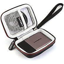 LTGEM EVA Duro Caso Protector Llevar Bolsa Cubrir para Samsung T3 Portable 250GB 500GB 1TB 2TB SSD USB 3.0 Sólido externo Estado Unidades A prueba de Choques Almacenaje Viajar Bolsa-Negro