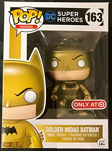 Funko - Figurine DC Heroes - Batman Golden Midas Exclu Pop 10cm - 0889698128179