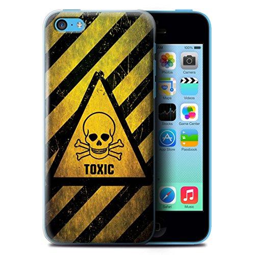 KOBALT® Hülle Case für Apple iPhone 5C | Hochspannung/Strom Entwurf | Warnung Zeichen Kollektion Giftig/Schädel