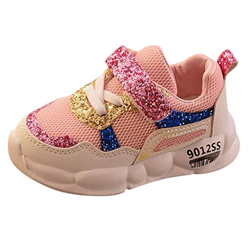 UOMOGO Sneakers Bambini Ragazzi Scarpe Sportive Ragazze da Interno Scarpe da Corsa per Bambini Unisex Nero Bianca Rosa Grigio