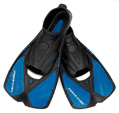 AQUA-SPEED® ACTION Taucherflossen für Erwachsene + UP®-Schlüsselband (Schwimmflossen Schnorchelflossen Trainingsflossen Fersenlaschen Anti-Rutsch Ergonomisch)