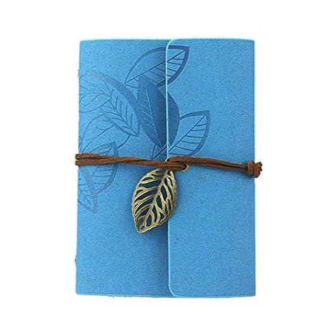 Agenda, Kolylong® Cover Vintage Feuille PU cuir Loose Leaf Blank