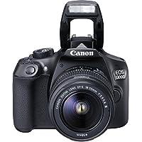 Canon EOS 1300D Digitale Spiegelreflexkamera (18 Megapixel, 7,6 cm (3 Zoll), APS-C CMOS-Sensor, WLAN mit NFC, Full-HD ) Kit inkl. EF-S 18-55 mm und EF 50 mm STM Objektiv schwarz