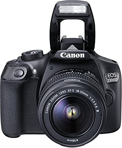 Canon EOS 1300D Digitale Spiegelreflexkamera (18 Megapixel, 7,6 cm (3 Zoll), APS-C CMOS-Sensor, WLAN mit NFC, Full-HD ) Kit inkl. EF-S 18-55 mm und EF 50 mm STM Objektiv