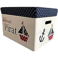 Preisvergleich für VicScho Spielzeugkiste Kleiner Pirat