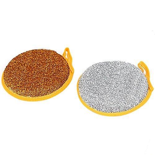 cuisine-nettoyage-plat-forme-ronde-eponge-tampon-a-recurer-double-face-lot-de-2