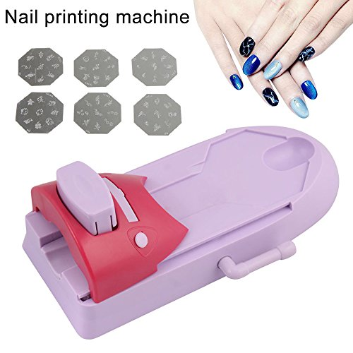 Symboat - Stampante motivi Nail Art, Set DIY, Stampante per Manicure. Strumenti