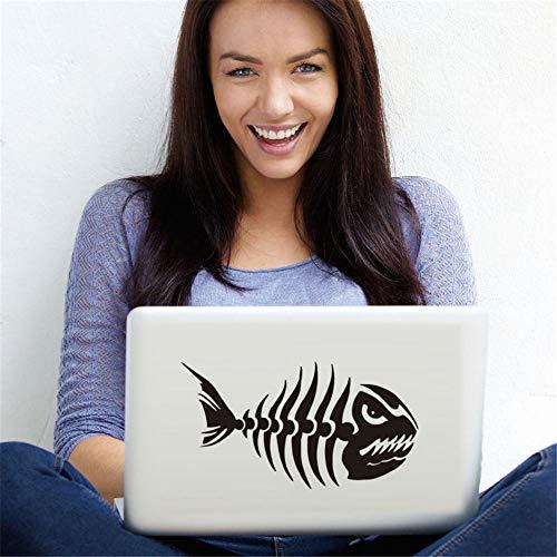 wandaufkleber 3d Wandtattoo Kinderzimmer Coole Notebook Aufkleber Angry Fish Bone Adhesive Computer Aufkleber für Laptop