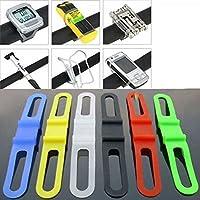SODIAL (R) 2pcs della bicicletta della bici del silicone di gomma elastica della cinghia dalla (Cinghia Della Gomma Di Silicone)