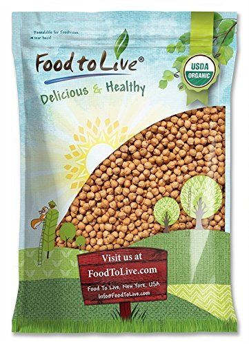 Food to Live Garbanzos Bio certificados (Eco, Ecológico, garbanzos secos, Kosher, no...
