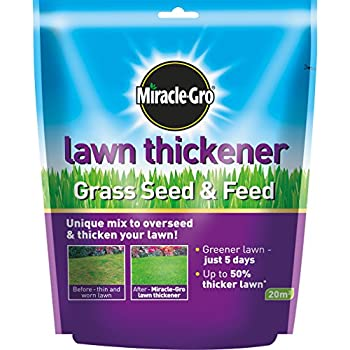 Miracle-Gro Lawn Thickener Grass Seed and Feed Bag, 500 g