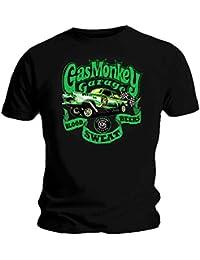 Gas Monkey Garage Official GMG T Shirt Green Gasser Blood Sweat All Sizes
