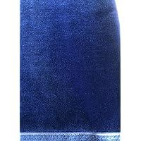 Baumwollsamt - Samt Stoff mit Goldkante, 460gr/150cm breit, Farbe 4944 - dunkelblau - Meterware