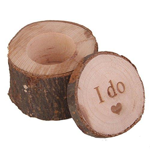 z gedruckt mache Shabby Chic rustikale Hochzeit Braut Ring-Träger-Box - 1 Stück (Geschenk Für Ring-träger)