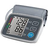 Weony U80EH - Oberarm Blutdruckmeßgerät Digital Puls Arrhythmie (IHB) Erkennung LCD Display 2*90 Speicherwerte Durchschnittsberechnung WHO Indikator Akustischer Alarm FDA AC/DC Farbe Anthrazit
