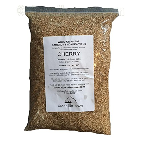 500g Cherry Wood Chips / Wood Dust for Hot Smokers / Smoking Ovens / BBQ