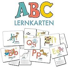 ABC-Lernkarten der Tiere, Bildkarten, Wortkarten, Flash Cards mit Groß- und Kleinbuchstaben   Lesen lernen mit Tieren für Kinder im Kindergarten und ... cm), 26-teilig   Stay Inspired! by Lisa Wirth