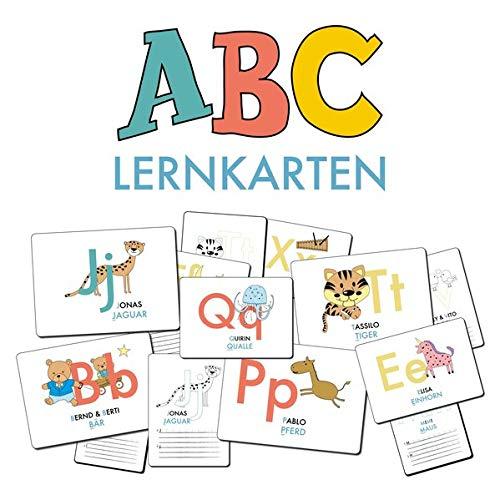 ABC-Lernkarten der Tiere, Bildkarten, Wortkarten, Flash Cards mit Groß- und Kleinbuchstaben | Lesen lernen mit Tieren für Kinder im Kindergarten und ... cm), 26-teilig | Stay Inspired! by Lisa Wirth (Der Klasse 1. Flash-karten)