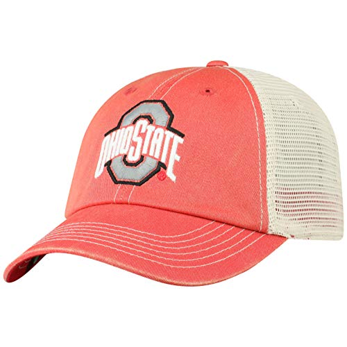 Top of the World Herren Mütze NCAA Vintage Team Icon verstellbar, Herren, NCAA Men's Vintage Mesh Adjustable Icon Hat, Ohio State Buckeyes Red, Einstellbar Ohio Mesh Cap