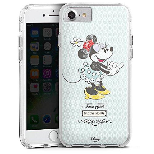 Apple iPhone 6 Bumper Hülle Bumper Case Glitzer Hülle Disney Minnie Mouse Vintage Geschenke Merchandise Bumper Case transparent
