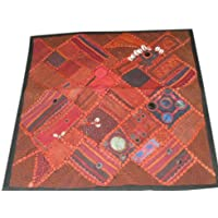 Boho Floor Cushion Covers- Patchwork Embroidered Throw Pilows Case Toss Pillow Shams 24