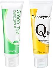 Sidmool grüner tee und coenzym q-10 für alle hauttypen peeling-gel