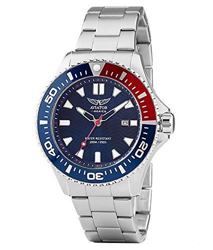 Aviator Herren-Armbanduhr Edelstahl 200M wasserdicht AVW78341G350
