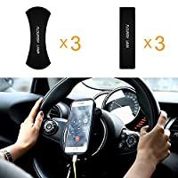 Nano Rubber Fixate Sticky Anti-Slip Washable Pads Sticky Auto Gel Holder for Car GPS, iPad,phone,Kitchen Cabinets or Tile,Washroom Multiple Uses (Six Pcs)