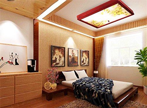 LED Deckenleuchte Minimalist Style Chinesisches Restaurant Schlafzimmer  Lampe Dimmen Licht Holz Wohnzimmer Balkon ( Farbe