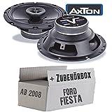 Lautsprecher Boxen Axton AE652F | 16cm 2-Wege 160mm Koax Auto Einbauzubehör - Einbauset für Ford Fiesta MK7 Front Heck - JUST SOUND best choice for caraudio