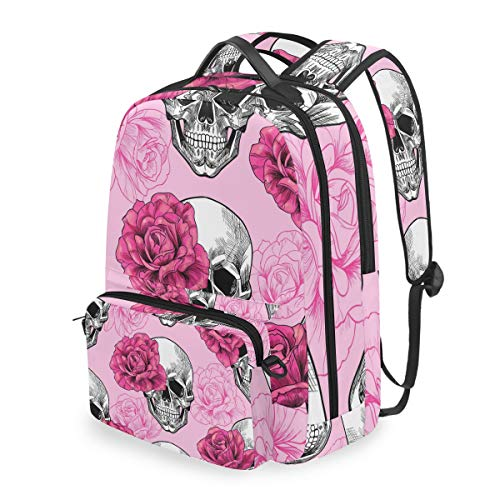 Lustiger Rucksack mit Totenkopf-Motiv, abnehmbare Schultertasche, Schultertasche, Schultertasche, für Kinder, Jungen und Mädchen
