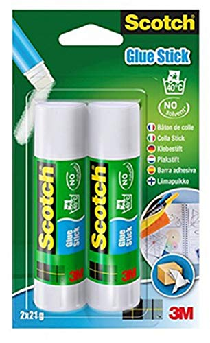Scotch 6242C - Barra adhesiva de 21 g, transparente, pack de 2