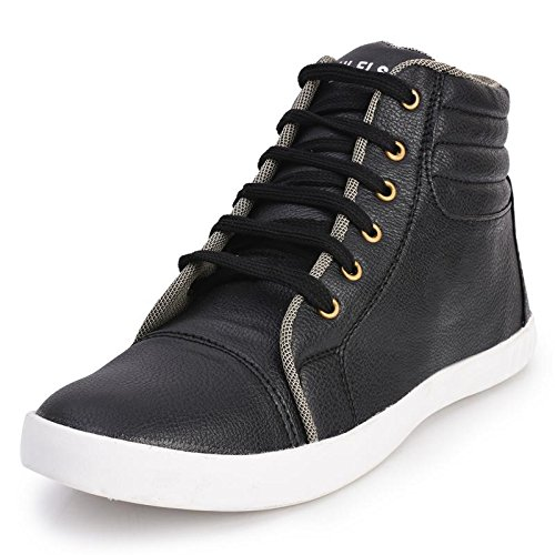 Foot n Style Men's Black Synthetic Leather High Ankle Casual Shoes  available at amazon for Rs.494