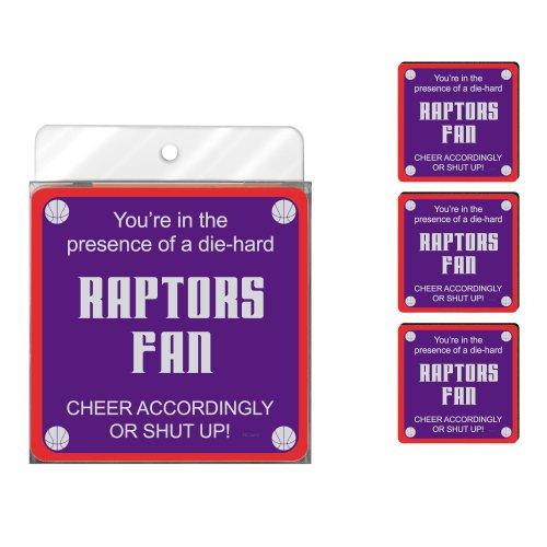 Tree-Free Greetings nc38167Raptors Basketball Fan 4er Pack Künstlerische Untersetzer Set